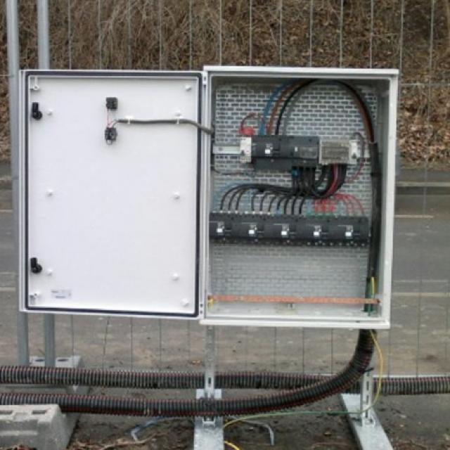 Réalisation d'une installation électrique de chantier sur Reims